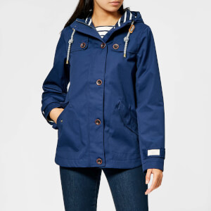 Joules Women's Coast Waterproof Hooded Jacket - French Navy