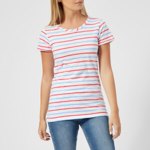 Joules Women's Nessa Stripe Jersey T-Shirt - Blue Red Stripe