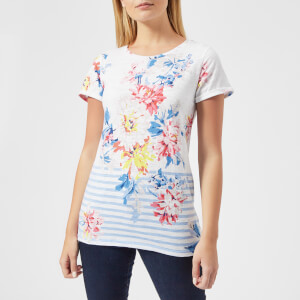 Joules Women's Nessa Printed Jersey T-Shirt - Stripe Whistable Floral