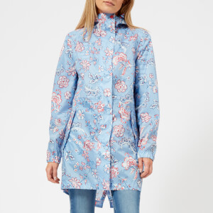 Joules Women's Golightly Waterproof Packaway Jacket - Blue Indienne Floral