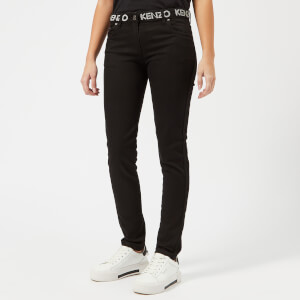 KENZO Women's Superstretch Skinny Jeans - Black
