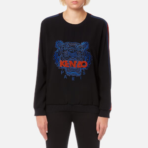 KENZO Women's Crepe Back Satin Logo Sweatshirt - Black