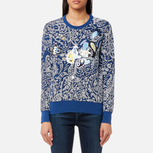 KENZO Women's Embroidered Paisley Jumper - French Blue