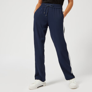 KENZO Women's Crepe Back Satin Sweatpants - Navy
