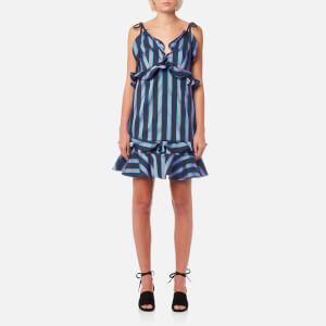 KENZO Women's Stripes Cotton Jacquard Dress - Midnight