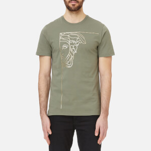 Versace Collection Men's Medusa Logo T-Shirt - Bronzo/Stampa