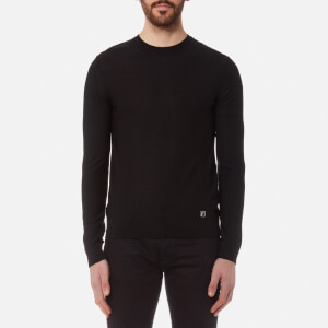 Versace Collection Men's Back Logo Knitted Jumper - Nero Jacq
