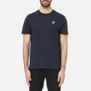 Versace Collection Men's Small Logo T-Shirt Girocollo - Navy-Oro