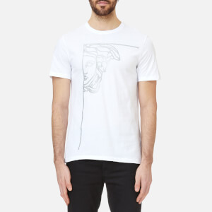 Versace Collection Men's Medusa Logo T-Shirt - Bianco/Stampa