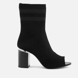 Alexander Wang Women's Cat Black Knitted/Rhodium Boots - Black