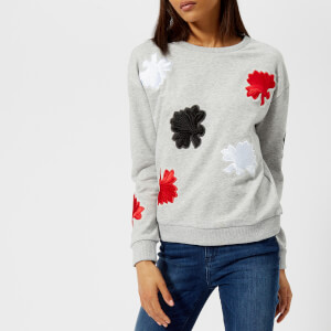 Armani Exchange Women's Floral Applique Sweatshirt - Grey