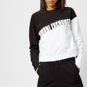 Armani Exchange Women's Logo Sweatshirt - Black