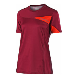 Troy Lee Designs Women's Skyline Short Sleeve Jersey - Burgundy