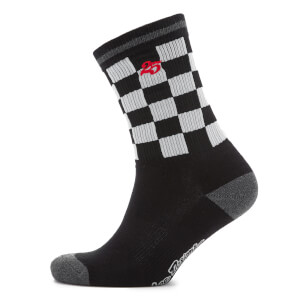 Troy Lee Designs Checker Crew Socks - Black