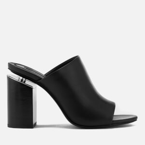 Alexander Wang Women's Avery Leather Heeled Mules - Black