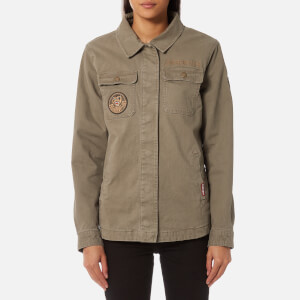 Superdry Women's Rookie 4 Pocket Patch Jacket - Pale Olive