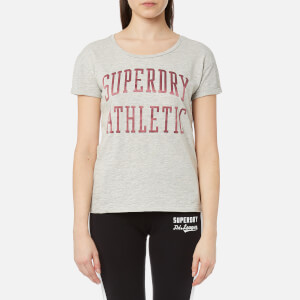 Superdry Women's Athletic Slim Boyfriend T-Shirt - Jock Grey Marl