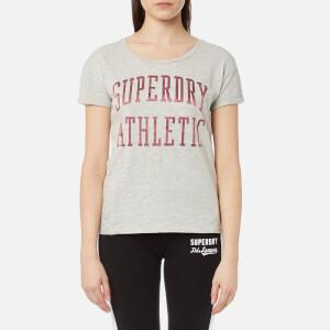 Superdry Women's Athletic Slim Boyfriend T-Shirt - Jock Grey Marl
