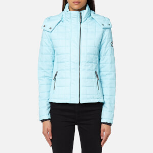 Superdry Women's Hooded Box Quilt Fuji Jacket - Aqua Mint Marl