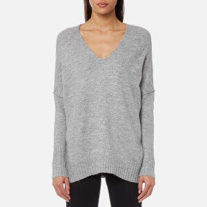 Superdry Women's Ruben V-Neck Jumper - Grey Marl