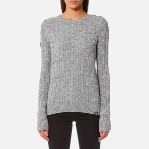 Superdry Women's Croyde Cable Knitted Jumper - Gamma Grey Marl