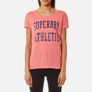 Superdry Women's Athletic Slim Boyfriend T-Shirt - Cheerleader Pink