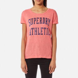 Superdry Women's Athletic Slim Boyfriend T-Shirt - Cheerleader Pink