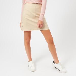 Maison Kitsuné Women's Overdyed Emma Studded Skirt - Beige