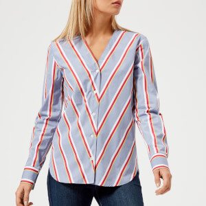Maison Kitsuné Women's Striped Dania Collar Shirt - Multi
