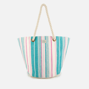 Joules Women's Summer Beach Bag - Peacock Stripe
