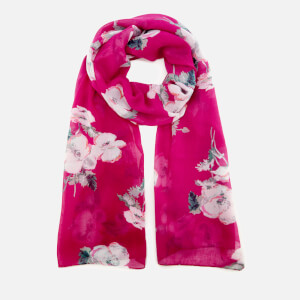 Joules Women's Wensley Long Line Woven Scarf - Ruby Poppy