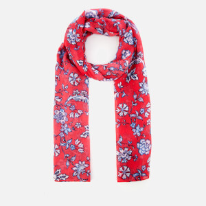 Joules Women's Wensley Long Line Woven Scarf - Red Sky Indienne Floral