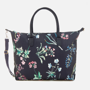 Joules Women's Kembry Printed Canvas Weekend Bag - Navy Botanical Print
