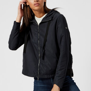 Emporio Armani Women's Hooded Blouson Jacket - Blue