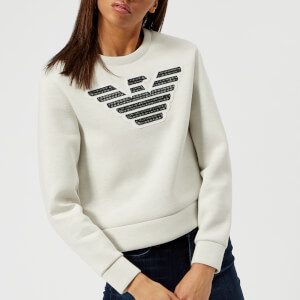 Emporio Armani Women's Large Eagle Logo Sweatshirt - Grey