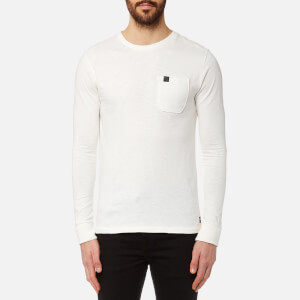 Superdry Men's Surplus Goods Long Sleeve PKT T-Shirt - Tribeca White