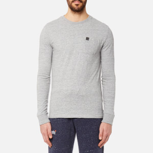 Superdry Men's Surplus Goods Long Sleeve PKT T-Shirt - Hudson Grey Grit