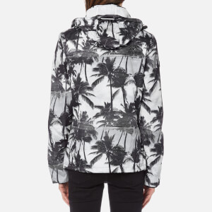 Superdry Women's Black Edition Windcheater Jacket - Mono Palm/Black/Neon Pink: Image 2