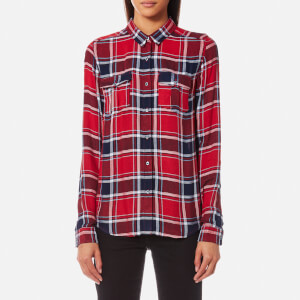 Superdry Women's Nashville BF Check Shirt - Gilford Check Red