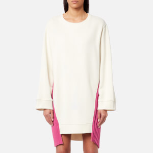 MM6 Maison Margiela Women's Basic Pleated Sweatshirt Dress - Rubber/Fuxia