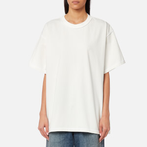 MM6 Maison Margiela Women's American Jersey T-Shirt With Back Detail - Off White
