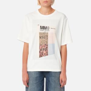MM6 Maison Margiela Women's American Jersey Logo T-Shirt - White