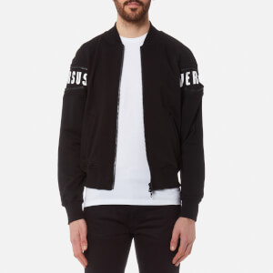 Versus Versace Men's Sleeve Logo Zipped Sweatshirt - Black/Stampa