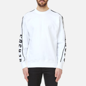 Versus Versace Men's Zipped Sleeve Logo Sweatshirt - White/Stampa