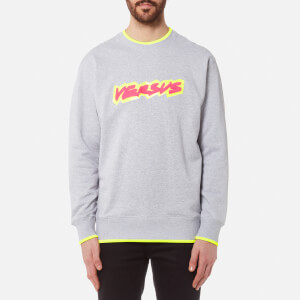 Versus Versace Men's Neon Logo Sweatshirt - Grigio Ghiaccio