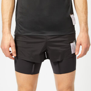 "Satisfy Men's Short Distance 8"" Shorts - Black Silk"