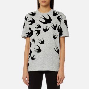 McQ Alexander McQueen Women's Classic Swallow T-Shirt - Mercury Melange