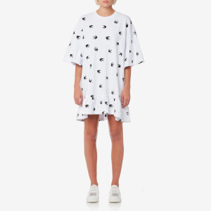 McQ Alexander McQueen Women's Loose Ruffle T-Shirt Dress - Optic White