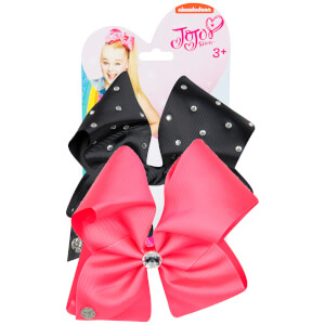 JoJo Siwa Bow Set - Neon Pink/Black