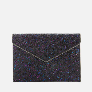 Rebecca Minkoff Women's Glitter Leo Clutch Bag - Purple Multi